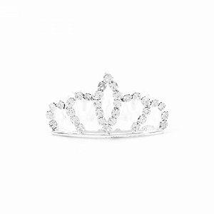 Coroa de Strass Prateada Princess