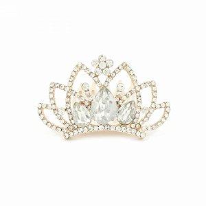 Coroa de Strass Dourada Princess