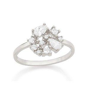 Anel Skinny Ring Zircônia Rommanel