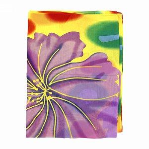 Canga em Tecido com Estampa Floral Amarela