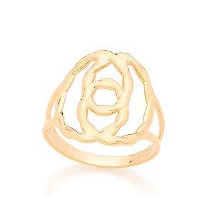 Anel Skinny Ring Entrelaçado Rommanel