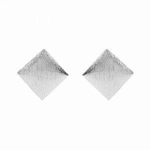 Brinco Geométrico Prateado