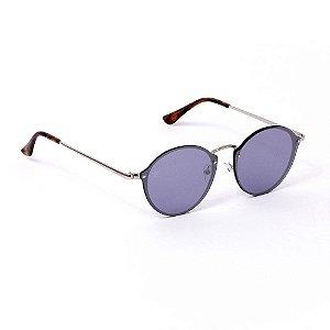 Óculos de Sol Classic Redondo Azul Espelhado