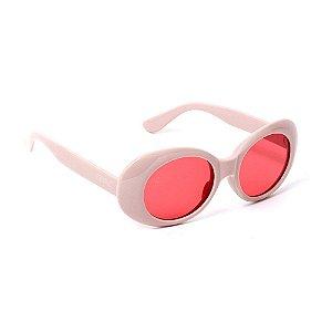 Óculos de Sol Oval Rosa