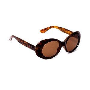 Óculos de Sol Oval Tartaruga Marrom
