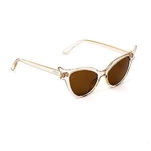Óculos de Sol Gatinha Marrom Transparente