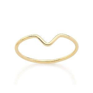 Anel Skinny Ring Liso Com Curvatura Na Parte Superior Do Aro Rommanel