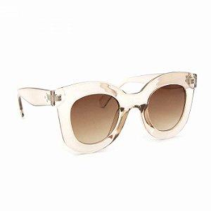 Óculos de Sol Retrô Marrom