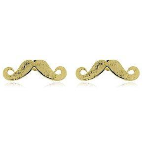 Brinco Folheado Mustache
