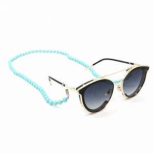 Cordão para Óculos de Bolinha Azul