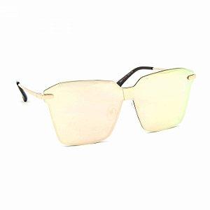 Óculos de Sol Estilo Flat com Lente Espelhada Rosa
