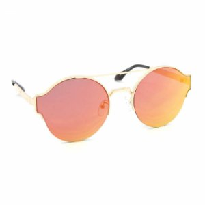 Óculos de Sol Redondo Style Lente Espelhada Laranja