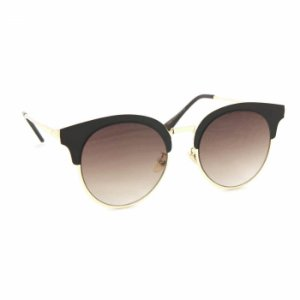 Óculos de Sol Redondo Gatinha Style Marrom Fosco