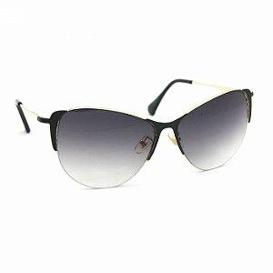Óculos de Sol Gatinha Glamour Lente Preto Degradê