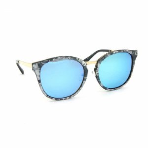 Óculos de Sol Marmorizado Lente espelhada Azul