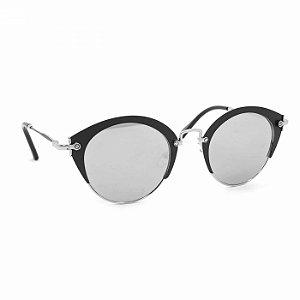 Óculos de Sol Glamorous com Lente Espelhada Preta