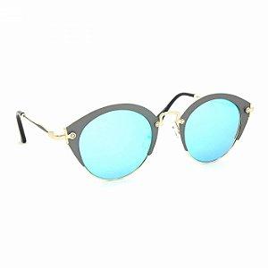 Óculos de Sol Glamorous com Lente Espelhada Azul