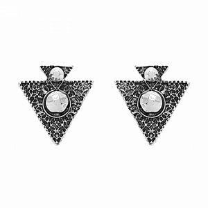 Brinco Geométrico Triangular Boho
