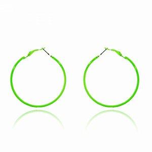 Argola Fininha Verde Neon