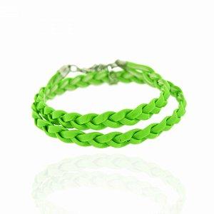 Pulseira Trançadinha Verde Neon
