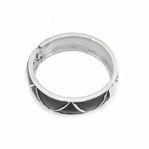 Pulseira Bracelete Esmaltada na cor Preta