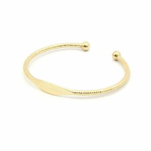 Pulseira Bracelete Dourada com Bolinha