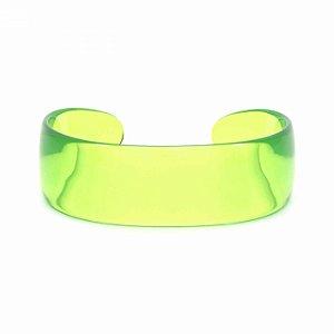Pulseira Bracelete Acrílico Verde Transparente