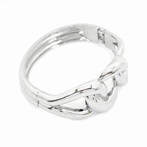 Bracelete Prateado Elos de Corrente