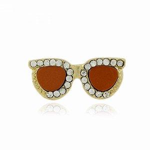Anel Dourado Óculos Laranja