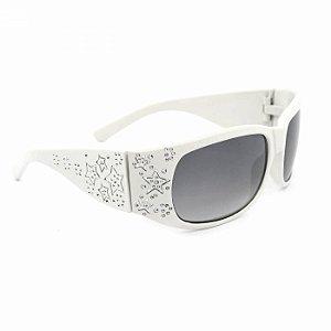 Óculos de Sol Branco com Estrelas