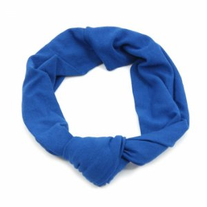 Headband Turbante Azul com Nó