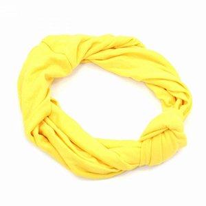 Headband Turbante Amarela com Nó