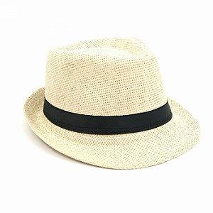 Chapéu Panamá com Faixa Preta