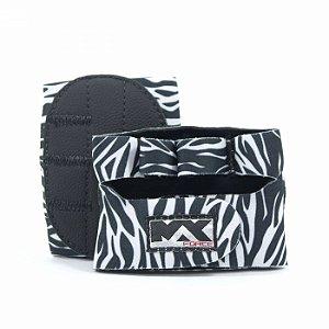 Luva para Musculação Meia Palma Zebra