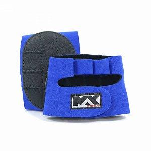 Luva para Musculação Meia Palma Azul