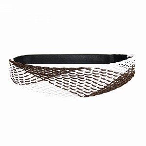 Headband Largo Marrom e Branco