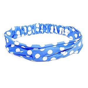 Headband Azul de Bolinhas