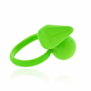 Anel Regulável Spike e Bola Verde Neon