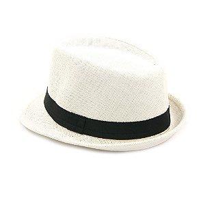 Chapéu Estilo Panamá com Faixa Preta