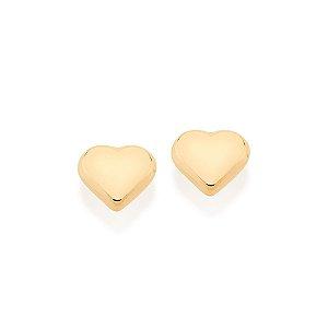 Brinco pequeno no formato de coração Rommanel