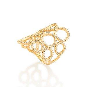 Maxi anel formado por círculos vazados Rommanel
