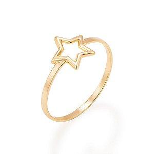 Anel skinny ring composto por estrela vazada Rommanel