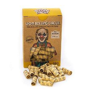 Piteira de Papel Lion Rolling Circus Pré Enrolada - Caixa com 120