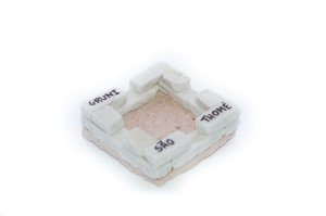 Cinzeiro quadrado de pedra São Thomé - Pequeno