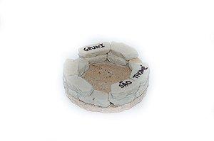 Cinzeiro redondo de pedra São Thomé - Pequeno