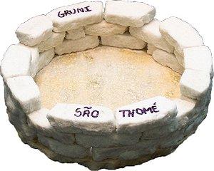 Cinzeiro redondo de pedra São Thomé - Grande