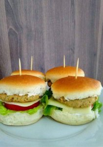 Mini - Hambúrguer Vegetariano