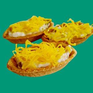 DELIVERY - Barquete artesanal com picles e fios de ovos