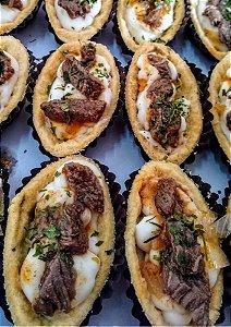 Barquete Artesanal com Iscas de Carne