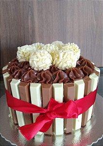Torta Kit Kat - Mesclada de Bombom Duo